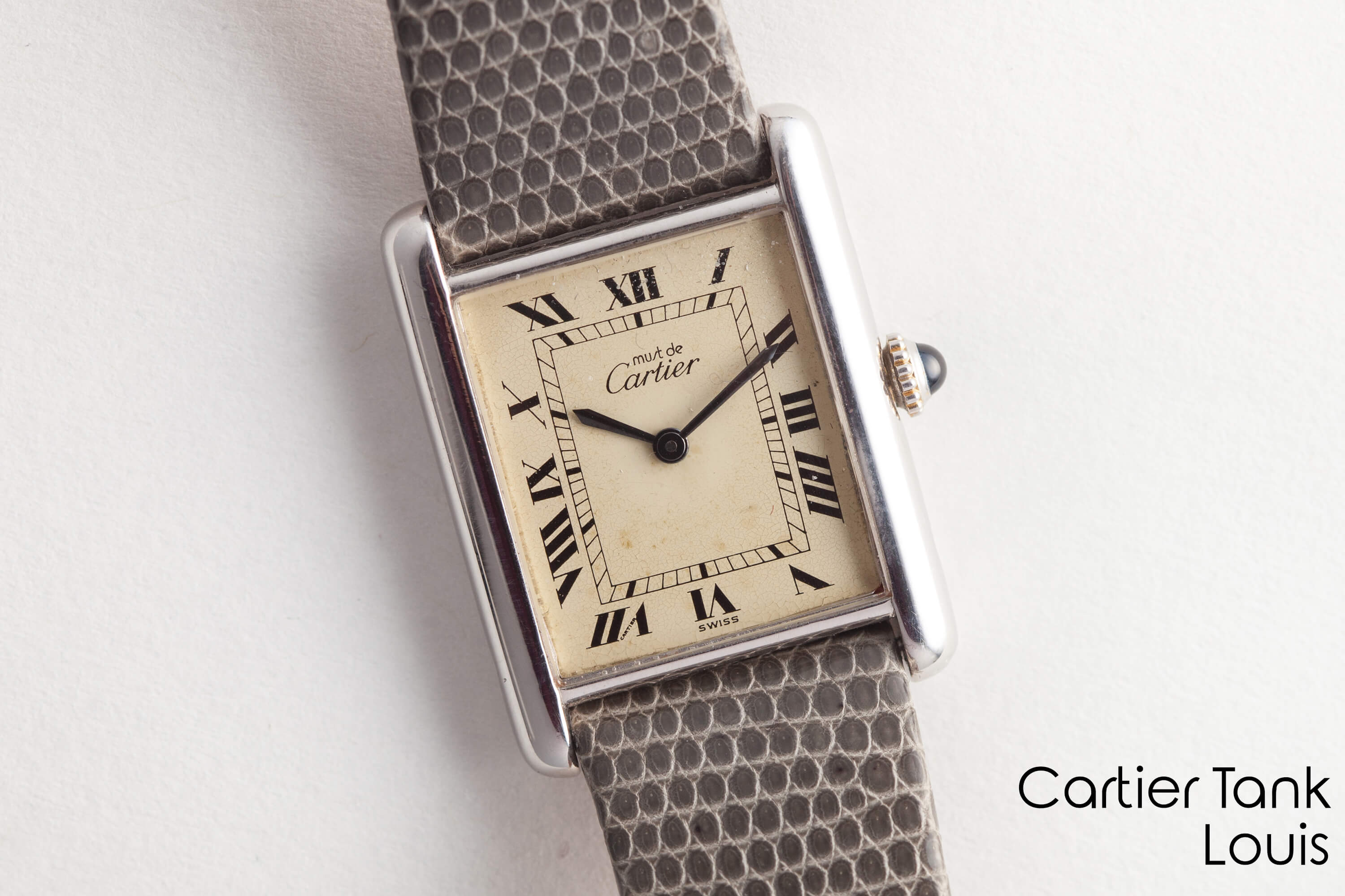 on product black classic watches cartier tank de vermeil watch ladies vintage side must